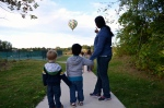We saw a balloon at the park