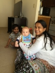 Jonah and I went to visit with Sushma and Mahee
