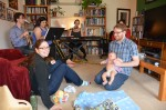 Livingroom band gig - Robinyukiko.com - streamed live - Cozy :)