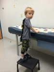 4 yr Dr apt. He did great during the exam, and took his shots like a champ.