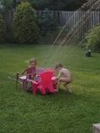 Sprinklers are fun on hot summer days :)