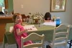 Coloring with Ava and Lilian