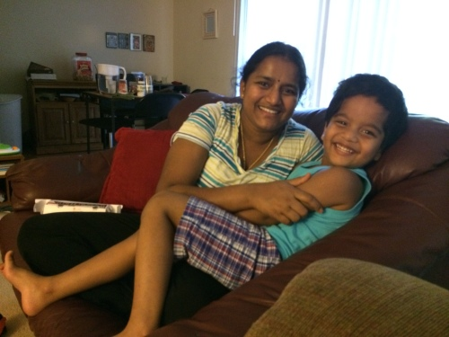 Sushma, Mahee, and Giridhar were so supportive as neighbors, and helping as I packed. :) We will have to visit again in the future.
