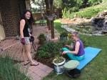 Gardening at Laura's :)