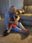 Saying hi to Grandma Bonnie