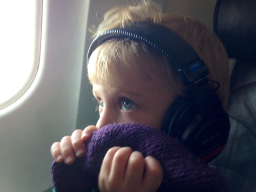 B on the plane headed to Colorado with Mark