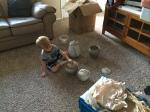 Pots in Colorado (Grandpa Gerald's handywork)