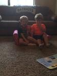 Meeting the neighbors (Bohnm, age 3)