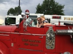 1950's fire truck at the park