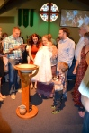 Gathering for Cora's Baptism