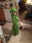 New gator Costume - B likes to hit me with the tail