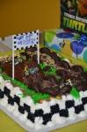 Ryder's dirt bike birthday cake