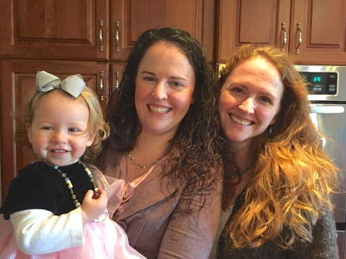 Cora, Laura, and I on Christmas eve