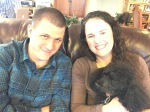 Laura and Sean, with Turbo