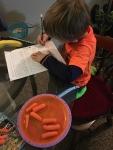 adition using carrots