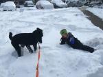 Both the boys love the snow